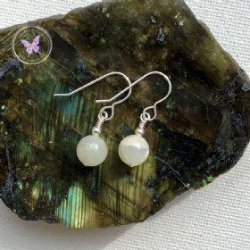 Classical Moonstone Silver Earrings